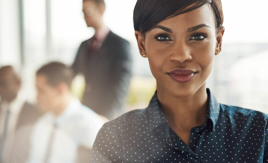 African American woman leader representing intersectionality in the workplace