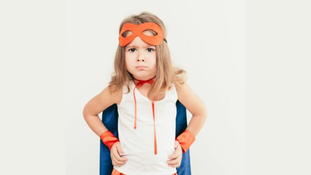 What's Your Superpower? Little girl dressed up as superhero